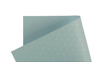 Decor Bolinhas Azul Santorini - Branco
