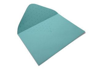 Envelopes 114 x 162 mm - Aruba Decor Bolinhas Incolor - Lado Interno