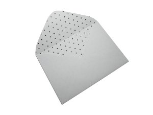 Envelopes 114 x 162 mm - Branco Decor Bolinhas Pretas - Lado Interno