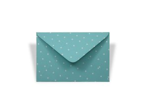 Envelopes 72 x 108 mm - Aruba Decor Bolinhas Brancas - Lado Externo