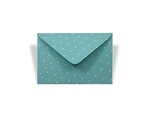Envelopes 72 x 108 mm - Aruba Decor Bolinhas Brancas - Lado Externo