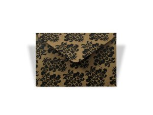Envelopes 72 x 108 mm - Kraft Decor Arabesco Preto - Lado Externo
