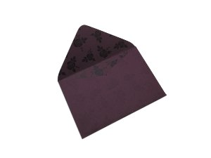 Envelopes 72 x 108 mm - Mendoza Decor Rosas Pretas - Lado Interno