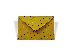 Envelopes 72 x 108 mm - Rio de Janeiro Decor Bolinhas Pretas - Lado Externo