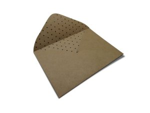 Envelopes 114 x 162 mm - Kraft Decor Bolinhas Pretas - Lado Interno