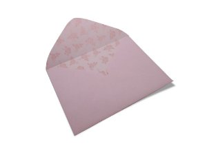 Envelopes 114 x 162 mm - Rosa Verona Decor Rosas Incolor - Lado Interno