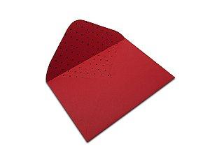 Envelopes 114 x 162 mm - Vermelho Decor Bolinhas Preto - Lado Interno