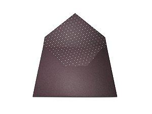 Envelopes 165 x 225 mm - Mendoza Decor Bolinha Brancas - Lado Interno