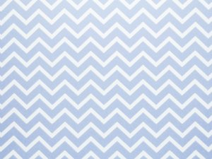 Decor Chevron Azul Santorini - Branco