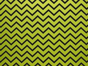 Decor Chevron Green - Preto