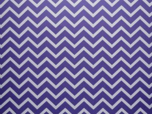 Decor Chevron Violet - Branco