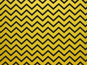 Decor Chevron Yellow - Preto