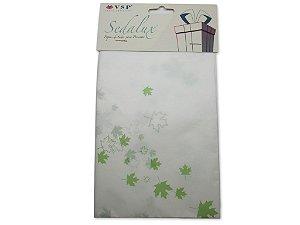 Papel de SEDA Folhas Verdes Escuro para Presente
