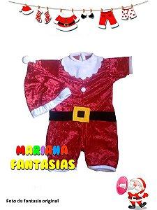 Fantasia de Papai Noel Baby Luxo
