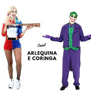 Arlequina e Coringa para aluguel