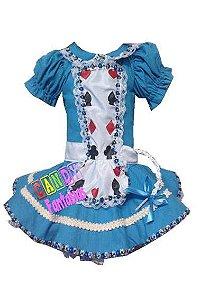 Fantasia Alice no País das Maravilhas - Pronta Entrega
