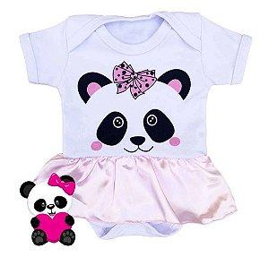 Body Panda Bebê - Pronta Entrega