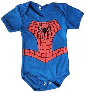 Body Homem Aranha Baby - Pronta Entrega