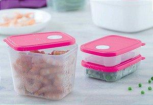 Tupperware Kit Freezertime 3 Peças - Rosa