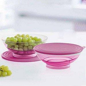 Tupperware Tigela Elegância 1,5 litro Rosa kit 2 peças