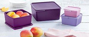 Tupperware Kit Basic Line Roxo 4 peças