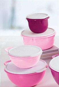 Tupperware Kit Preparação Rosa 4 Peças