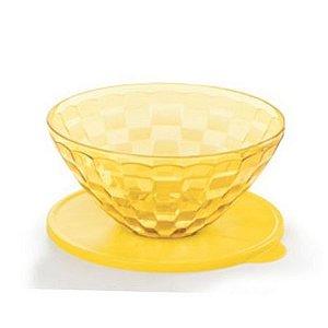 Tupperware Tigela Prisma 2 Litros Policarbonato Transparente Amarelo