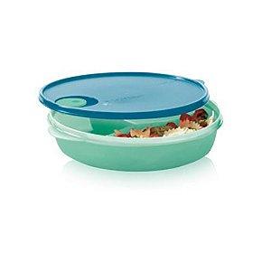 Tupperware Cristalwave com Divisórias 1,4 litro Verde Mint e Azul