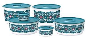 Tupperware kit Tigela Ilúmina Arabesco 6 peças