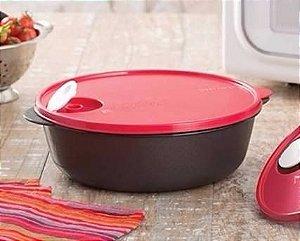Tupperware Cristalwave 1,5 litro Preto e Vermelho