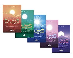 Luzes Espirituais dos Salmos, conjunto completo com todos os 5 volumes (contém o texto original dos Salmos em hebraico com tradução e transliteração)