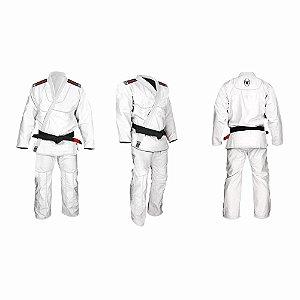 Kimono Jiu Jitsu Trançado Diamante Adulto Branco Marca Aranha