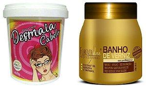 Combo Desmaia Cabelo + Banho De Verniz
