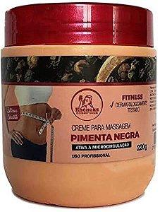 Creme para Massagem Pimenta Negra Rhenuks Queima Gordura
