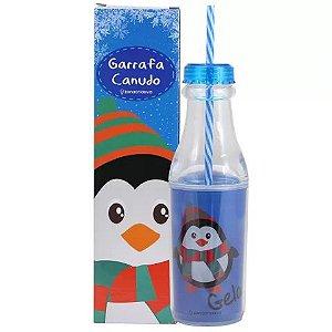 Garrafa com Canudo - Pinguim Gelado