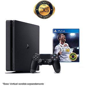 PlayStation 4 Slim 1TB com 1 controle + Fifa 18 Nacional