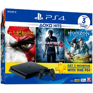 PlayStation 4 Slim 500GB com 3 jogos