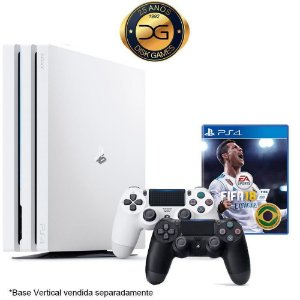 PlayStation 4 PRO Branco 1TB Com 2 Controles + Fifa 18