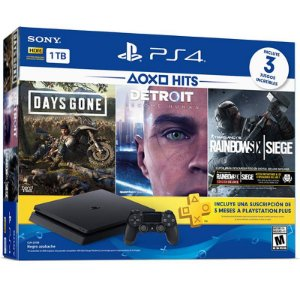 PlayStation 4 Slim 1TB Bundle com 3 jogos