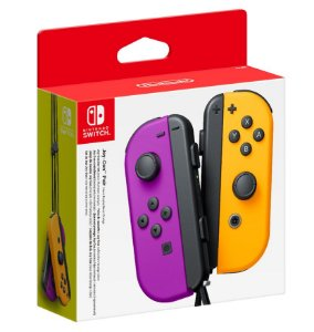 Joy Con (Esquerdo/Direito) Neon Purple/ Neon Orange - Nintendo Switch