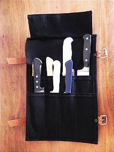 Porta facas em couro ecológico