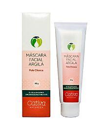 Mascara Limpeza Facial com Argila Pele Oleosa Orgânica Natural Vegana (Cativa)