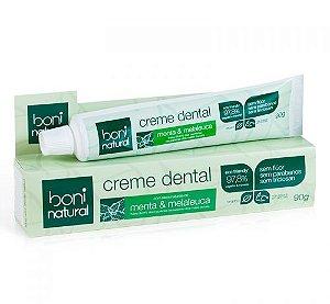 Creme Dental Sem Flúor - Menta & Melaleuca (Boni Natural)