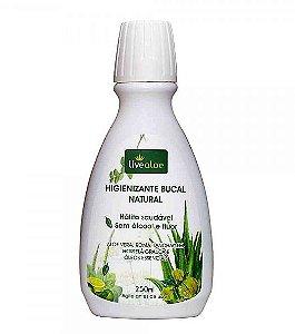 Higienizante Bucal Natural Aloe Vera, Romã, Hortelã, Óleos Essenciais (Livealoe)