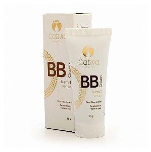 BB Cream 6 em 1 - FPS 20 Orgânico Natural Vegano (Cativa)
