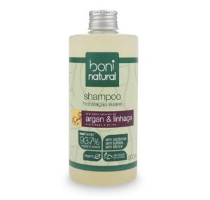 Shampoo Boni Natural vegano com argan e linhaça low poo 500ml