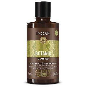 Shampoo Botanic Óleo de Rícino e Macadamia Crescimento Vegano 300ml - Inoar
