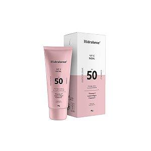 Vitamina C Facial 50 FPS Protetor Solar Rugas 40g - Hidrabene