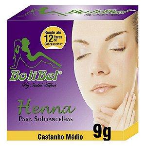 Henna Bolibel para sobrancelhas Castanho Medio