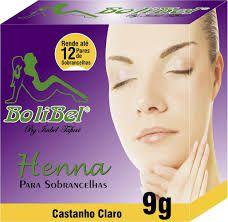 Henna Bolibel para sobrancelhas castanho claro